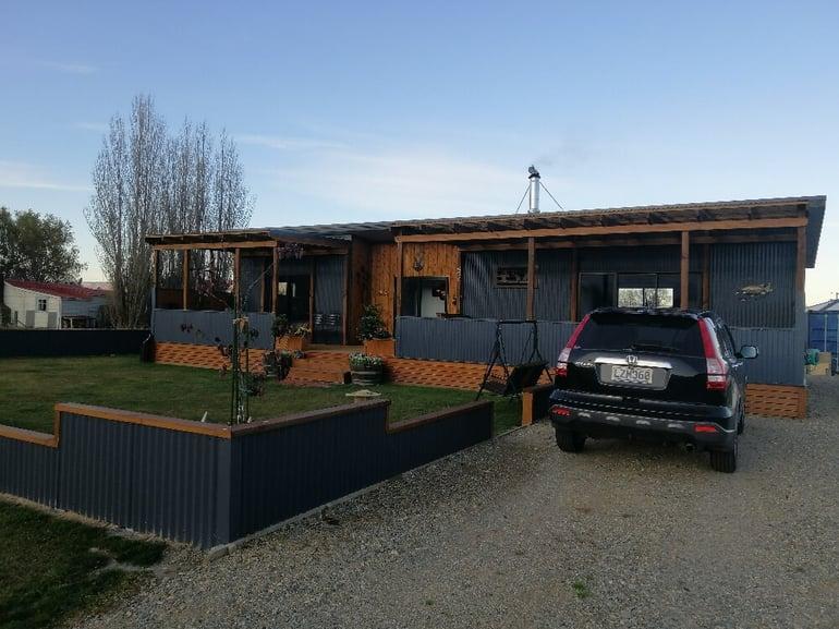 House cladded in cedar wood