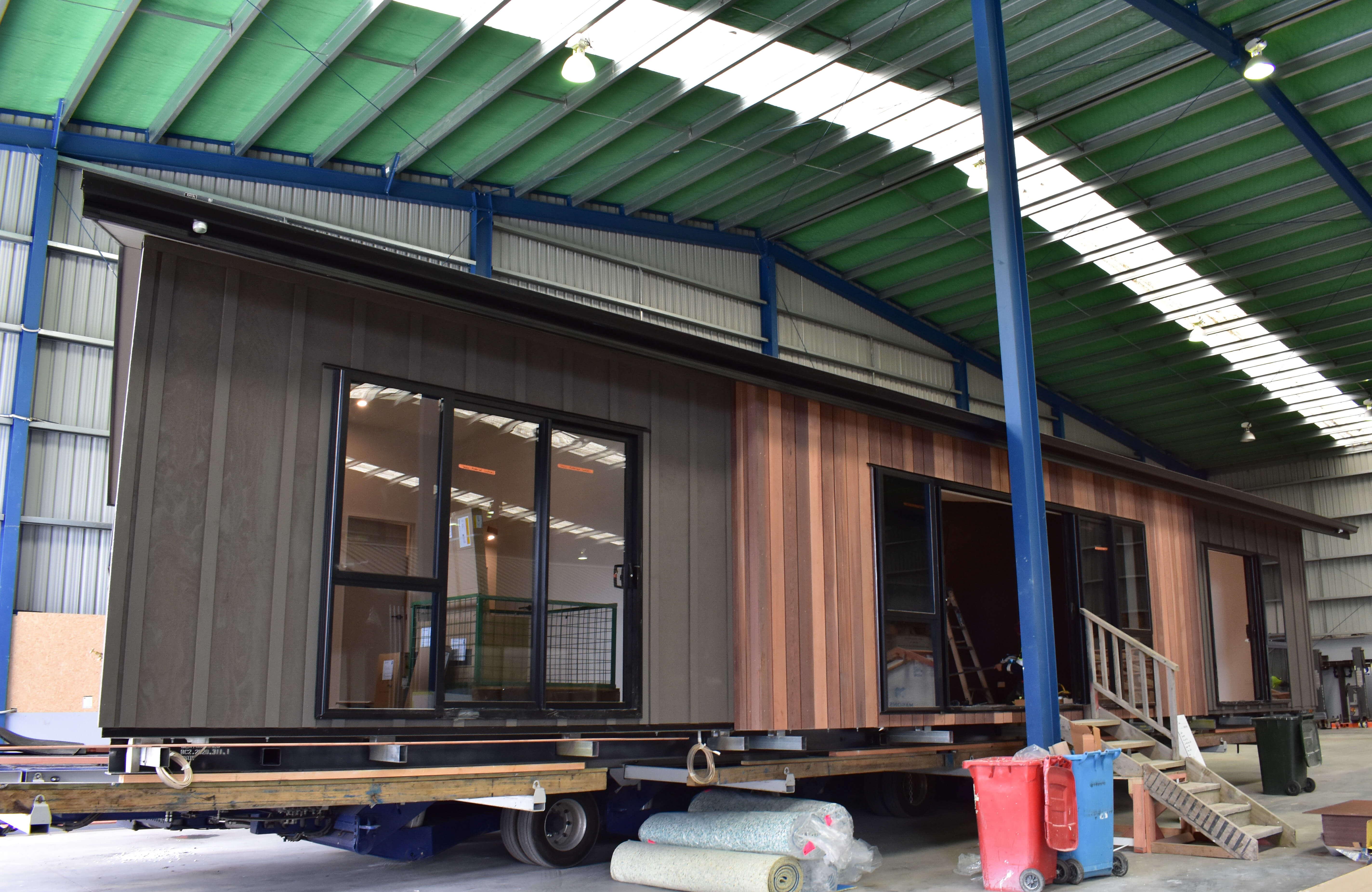 Prefab home in factory Timaru
