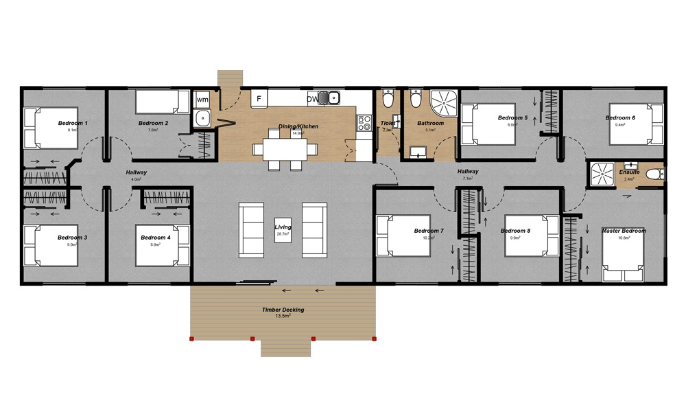 Multi-occupancy accommodation complex