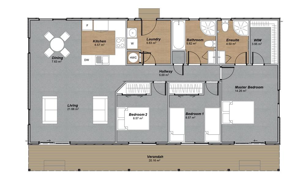 Hurunui Floorplan