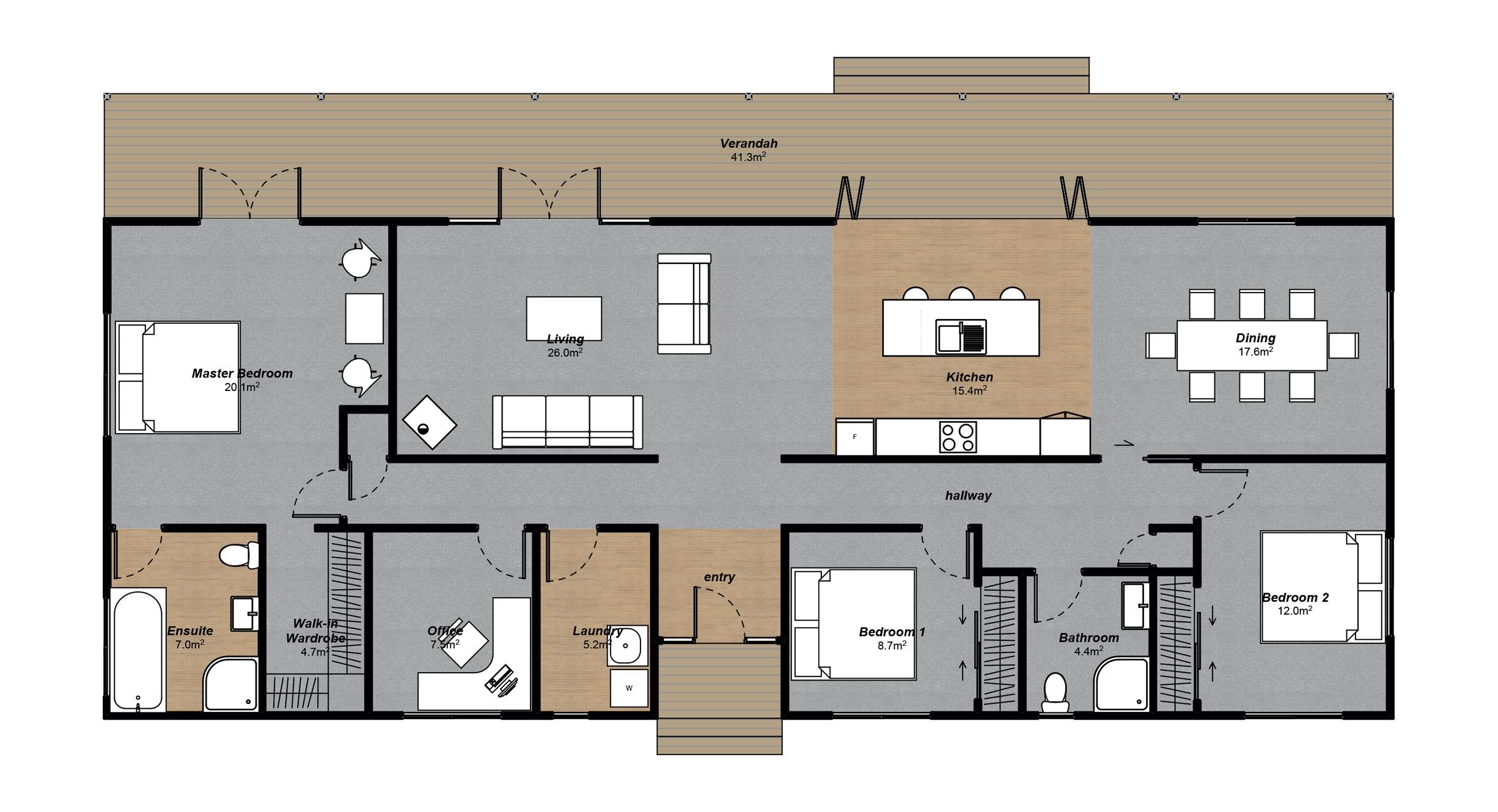 Lindis 3 bedroom floorplan