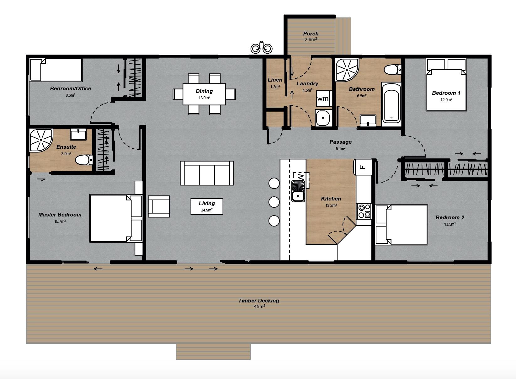 Farm manager house floorplan