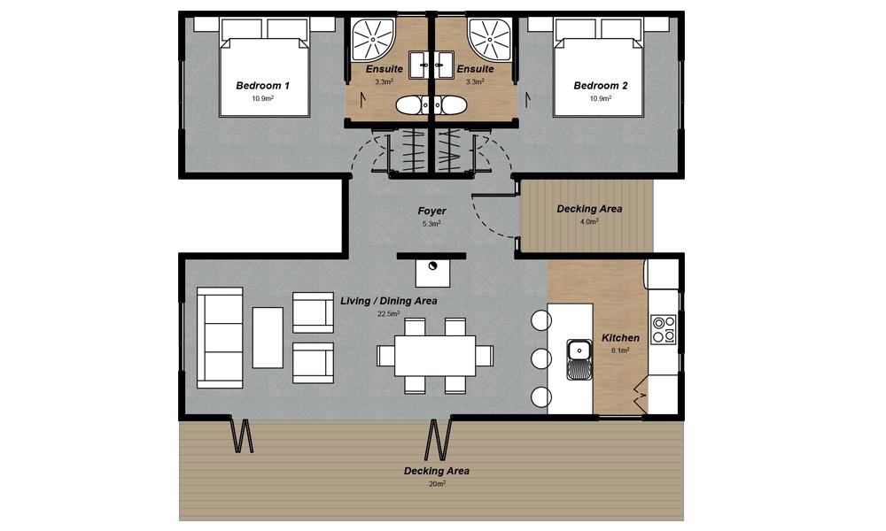 Shotover 2 bedroom modern house