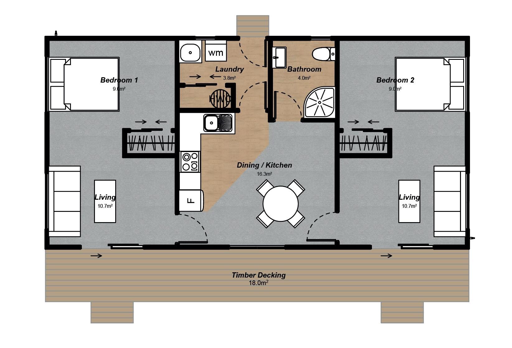 farm staff housing floorplan