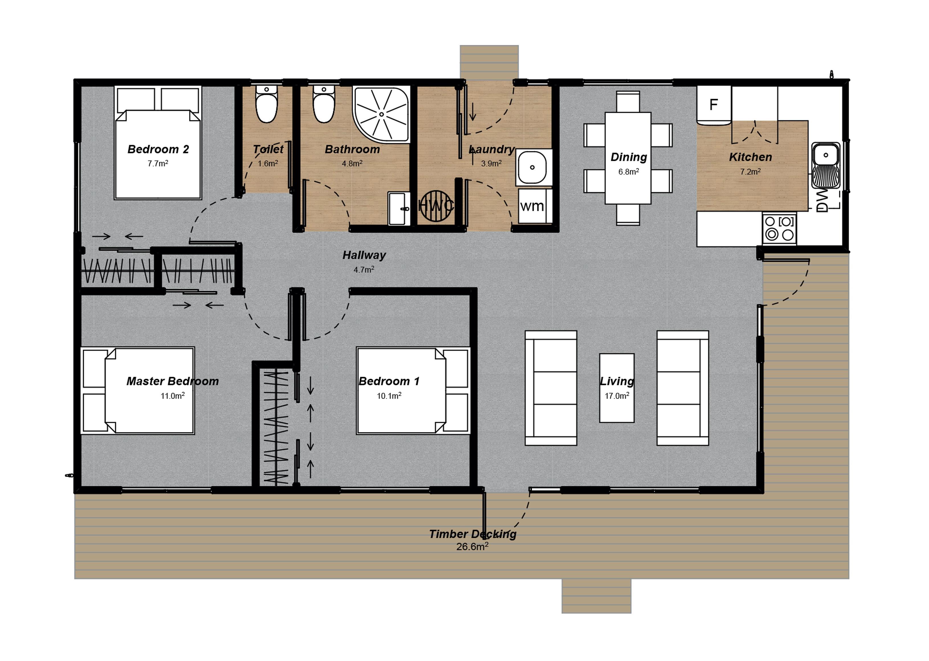 Villa 3 Floor plan