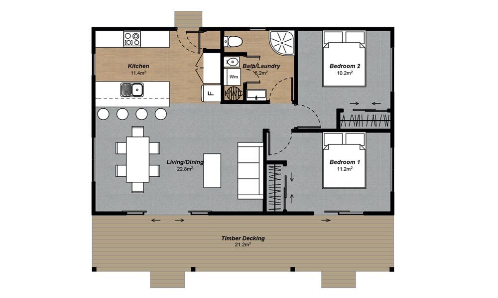 Cottage 2 Floorplan