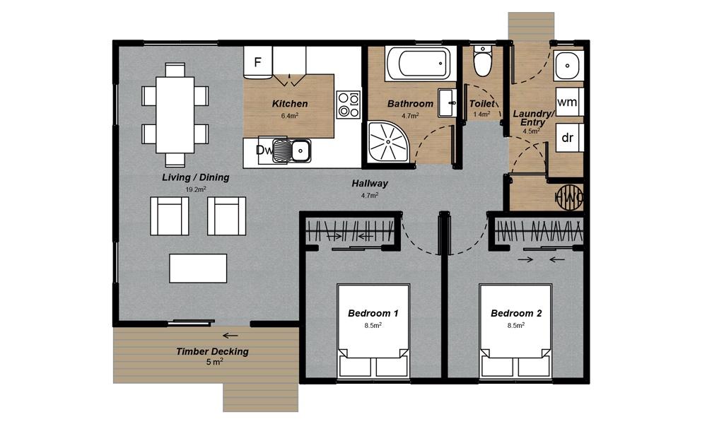 Oxford 2 Floorplan