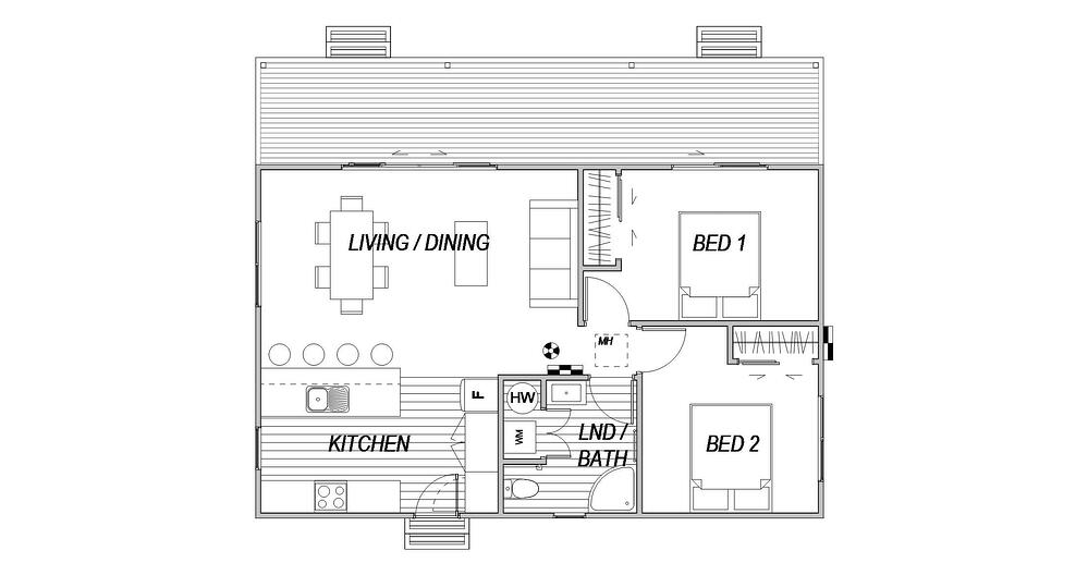 Cottage 2 house - Floor Plan