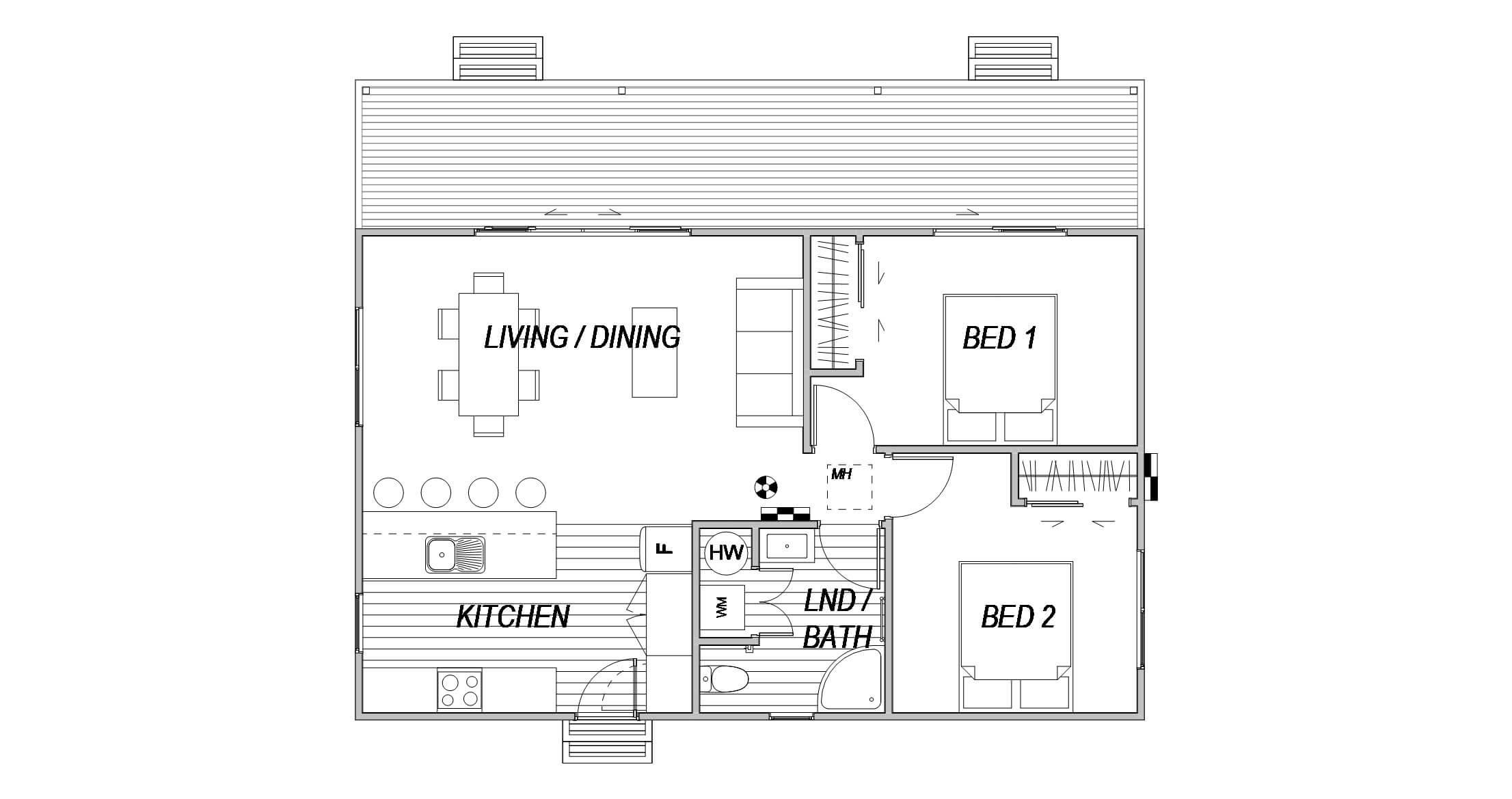 Cottage 2 - Floor Plan