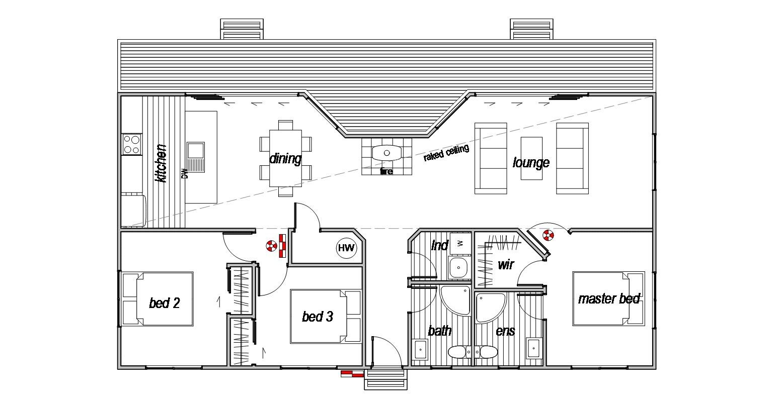 Pukaki 3 - Floor Plan