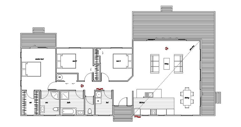 This is the floor plan for tone of our prefabricated homes
