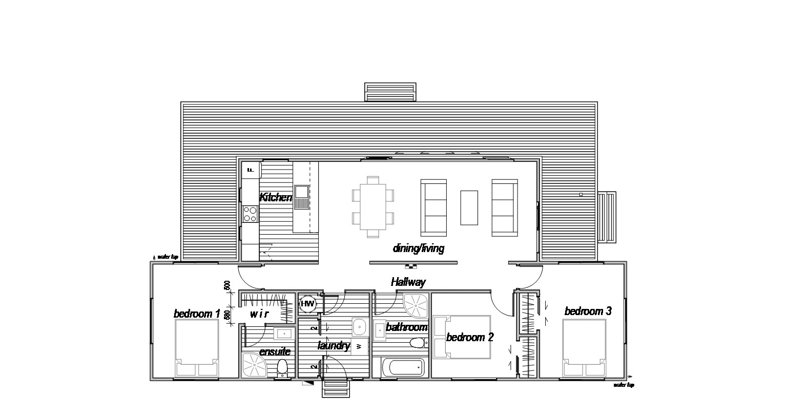 3 bedroom floorplan home design