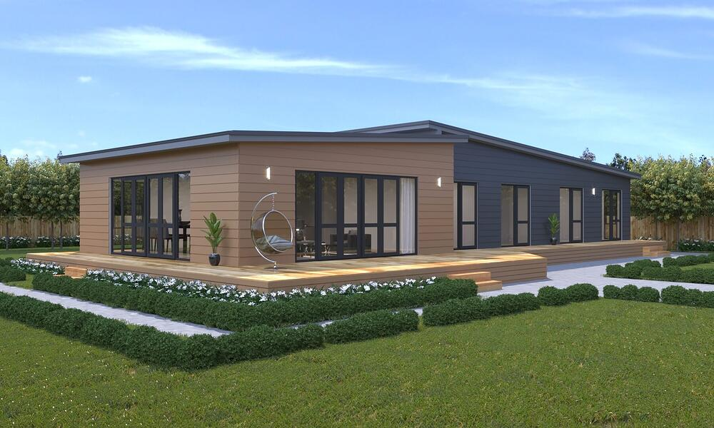 Check out our RAKAIA 4 bedroom Genius Homes prefabricated home