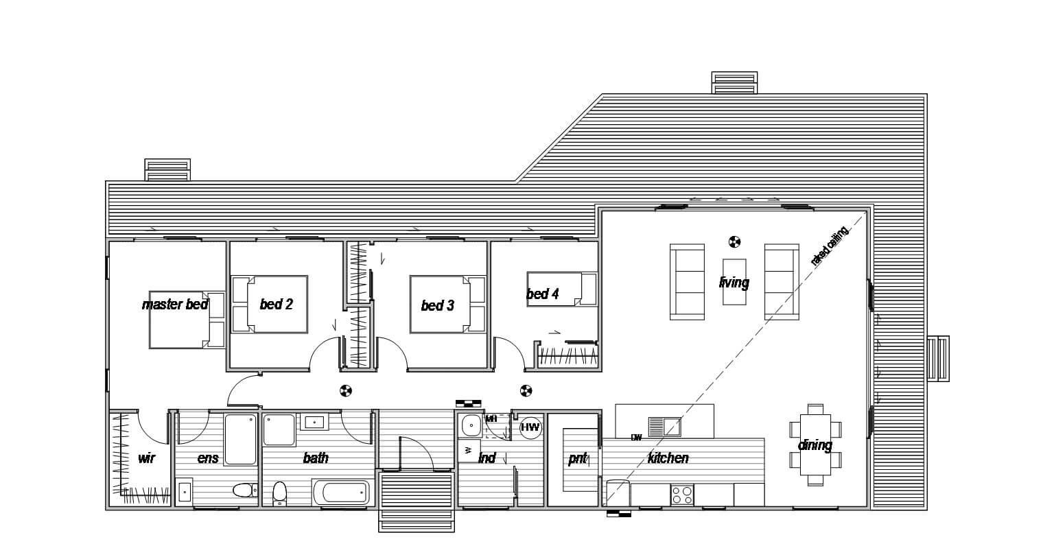Rakaia 4 - Floor Plan