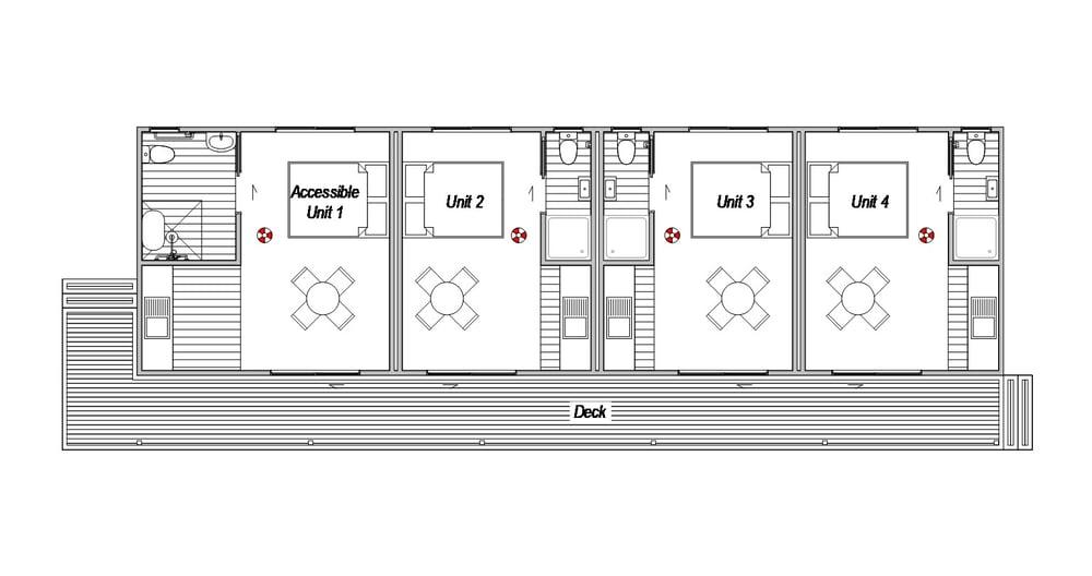 Accomodation Complex 1- Floor Plan