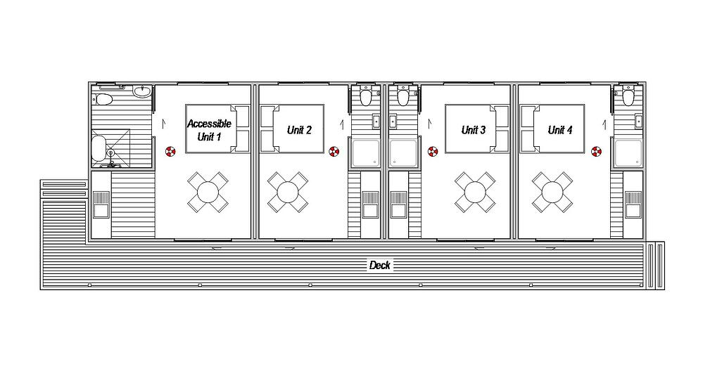 Accomodation Complex 1- Floor Plan