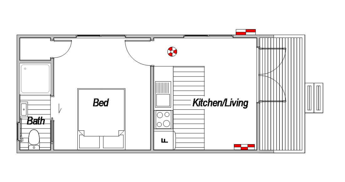 The kiwi design is one of our 2nd dwelling house plans