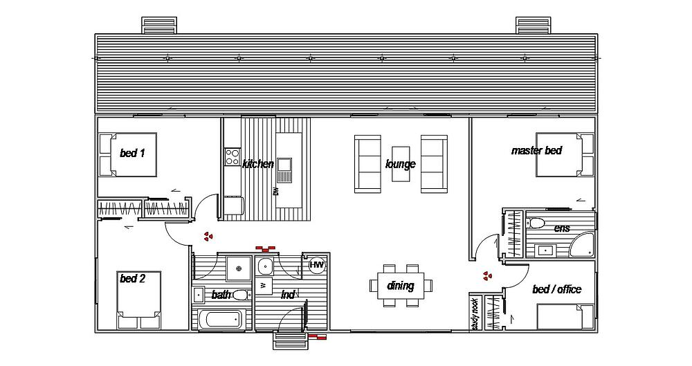 Managers Home - Floor Plan