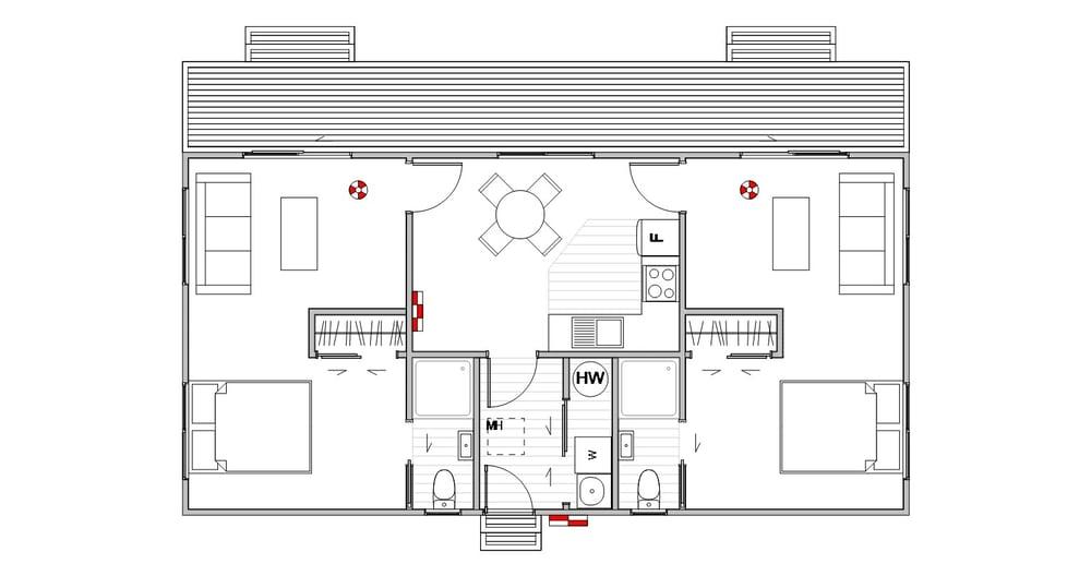 Staff Quarters - Floor Plan
