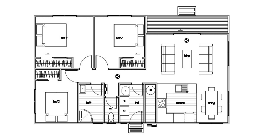 Oxford 3 - Floor Plan