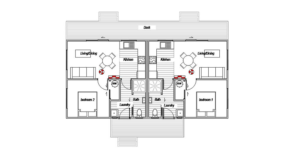 Staff Quarters Twin - Floor Plan