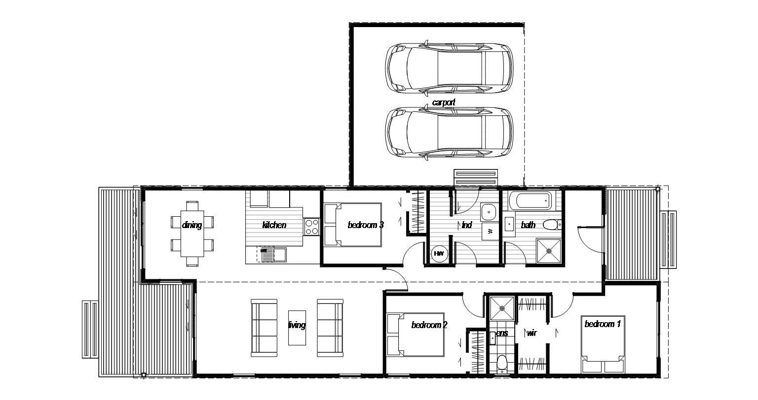 Wakatipu is a 3 Bedroom prefab home by Genius Homes