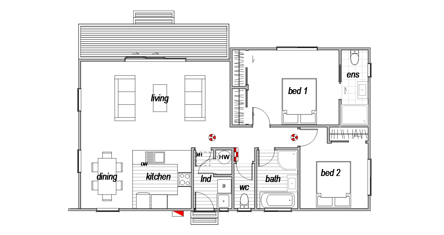 2 bedroom genius homes floorplan home design