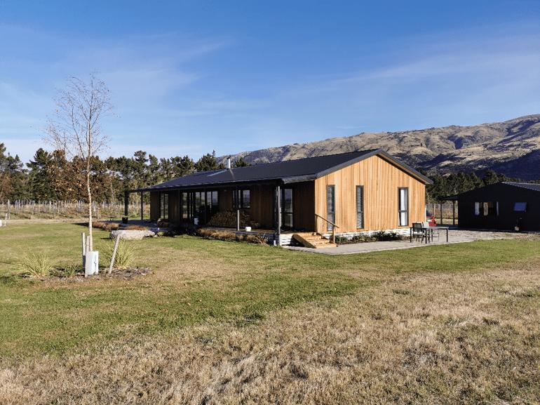 Cedar cladded house