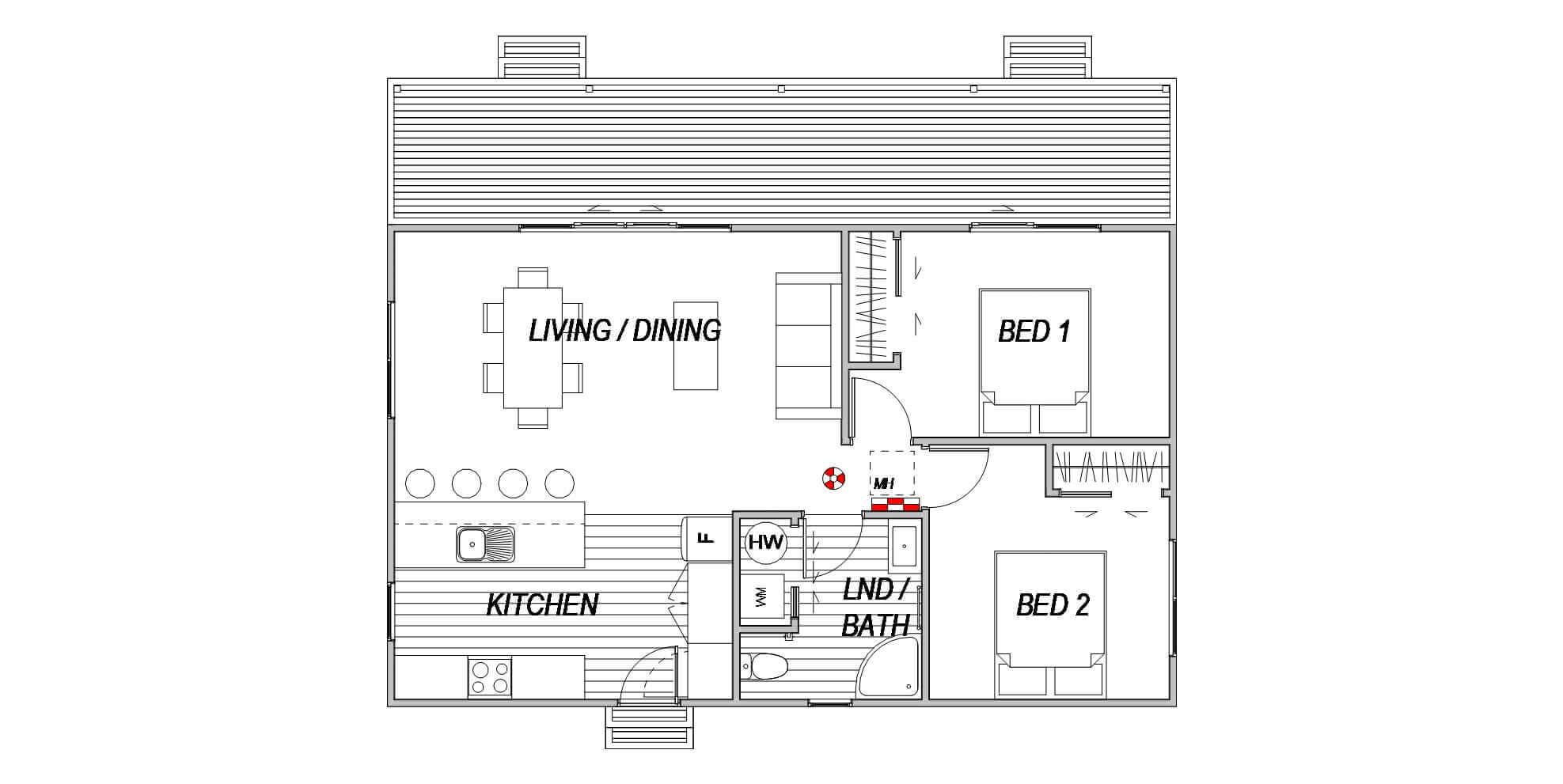 Cottage 2 house - Floor Plan