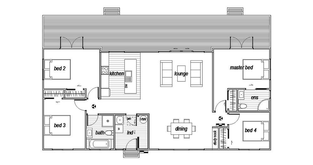 4 bedroom home design with lots of space