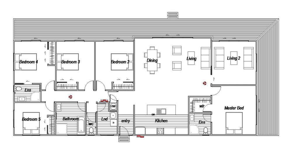 5 bedroom floorplan