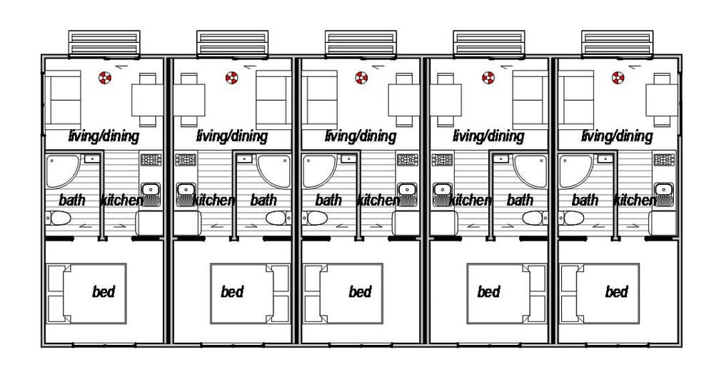 Accomodation Complex 2 - Floor Plan