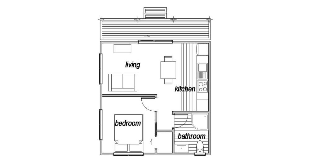 Cottage 1 - Floor Plan