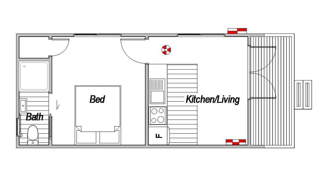 Kiwi Accomodation - Floor Plan