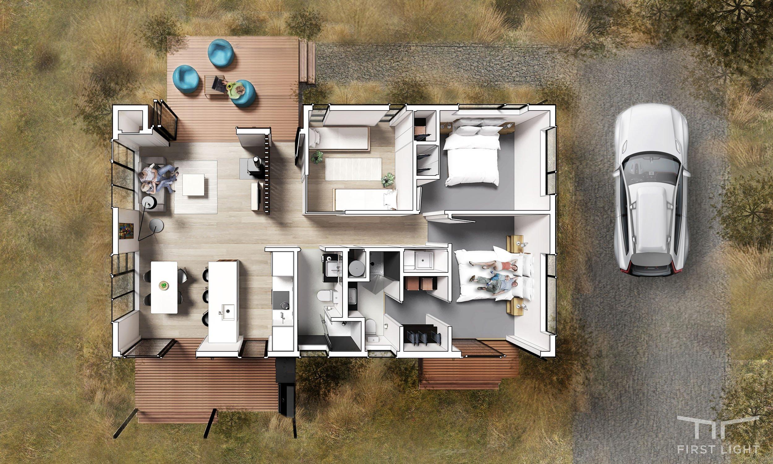 Flex 90 Plan - Bedroom