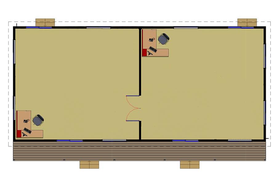 Double Classroom floorplan