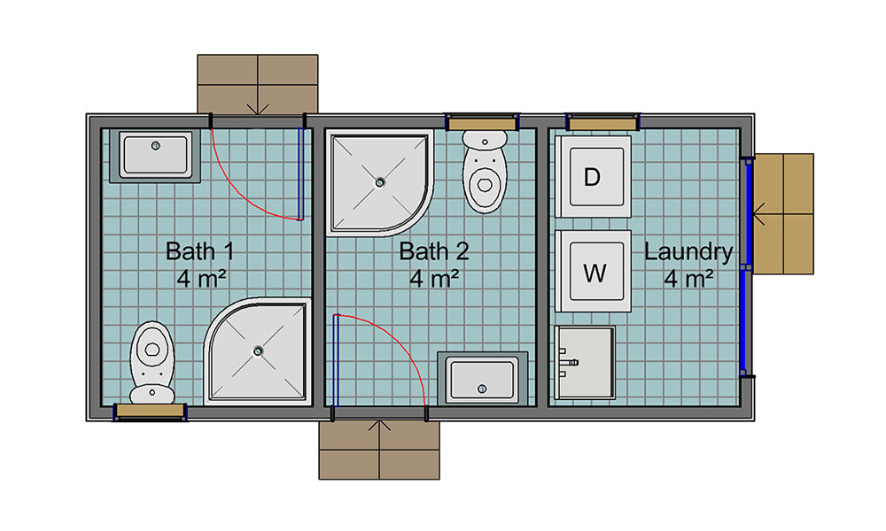 Dual Bathroom floorplan