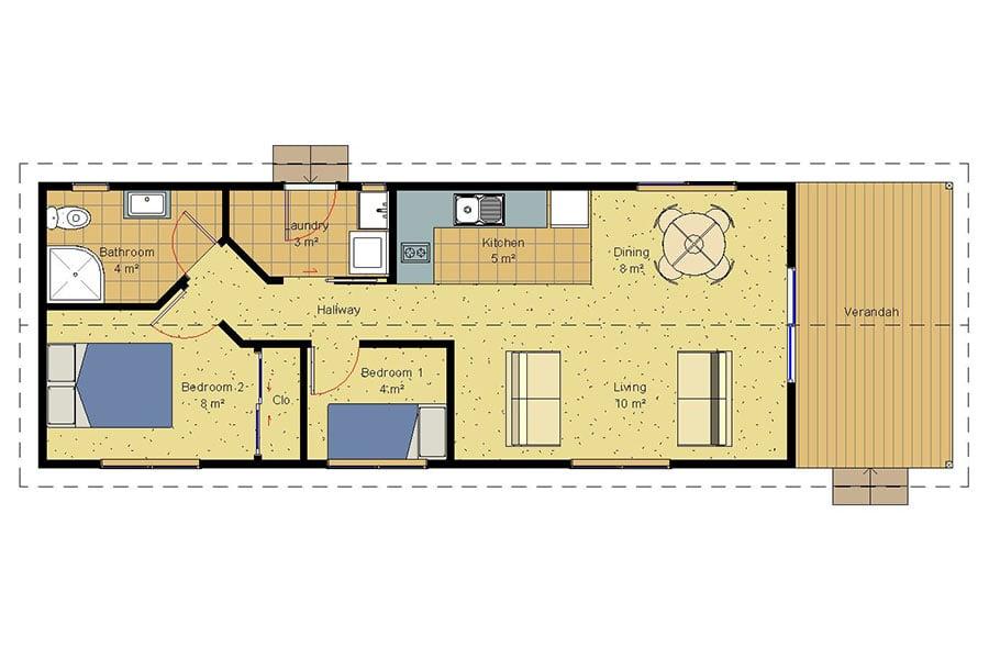 Genius 2 bedroom homes prefabricated homes for 4 bedroom house plans nz