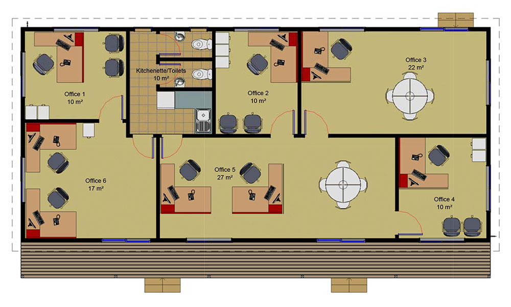 Large Office floorplan