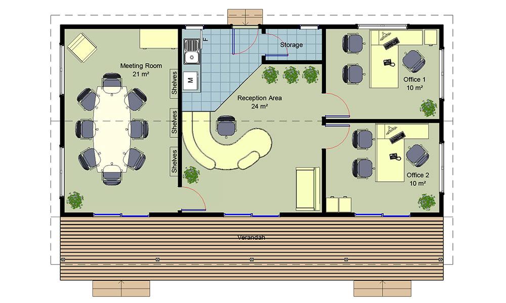 Medium Office floorplan