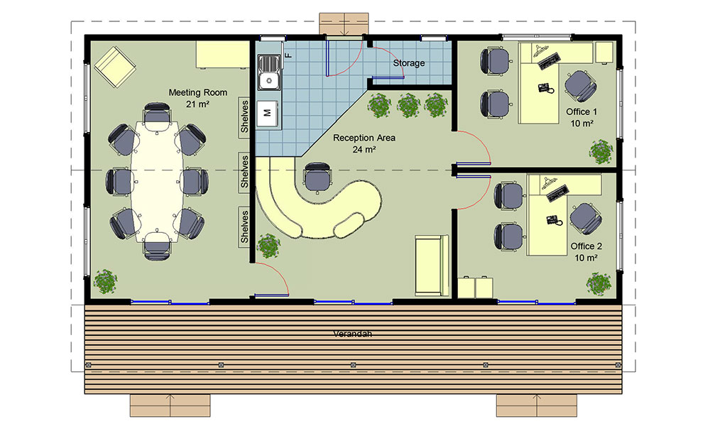 Medium Office floorplan