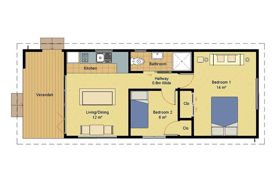 Genius 2 Bedroom Homes | Prefabricated homes