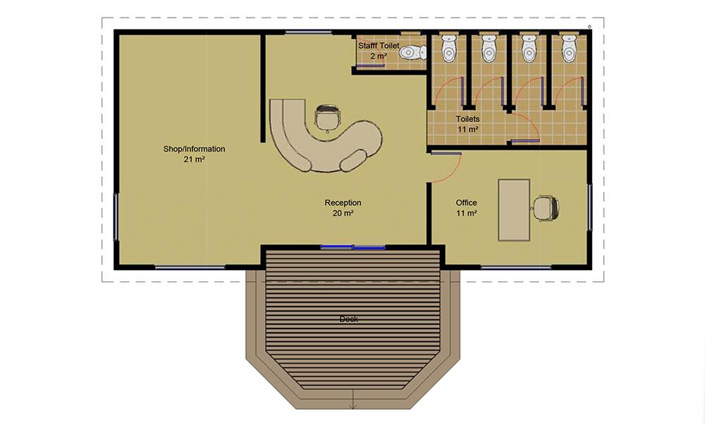 Shop and office Floorplan