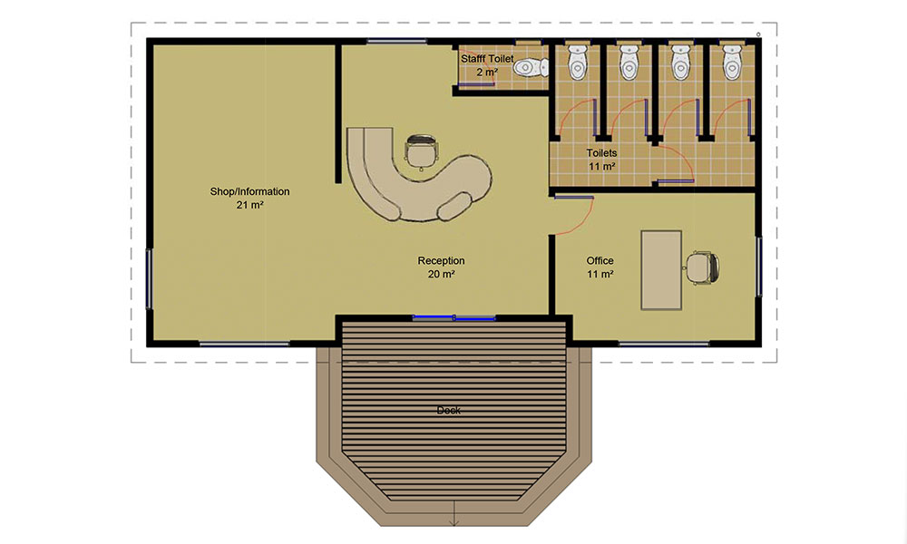 Shop and office Floorplan