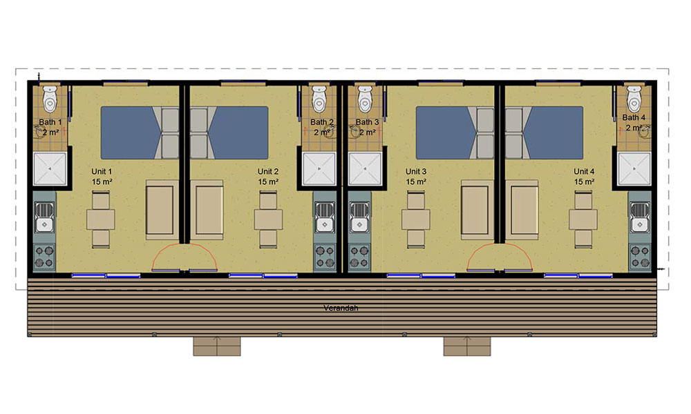 Quad Unit floorplan