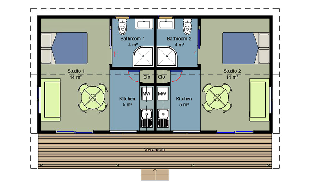 Twin Unit Floorplan