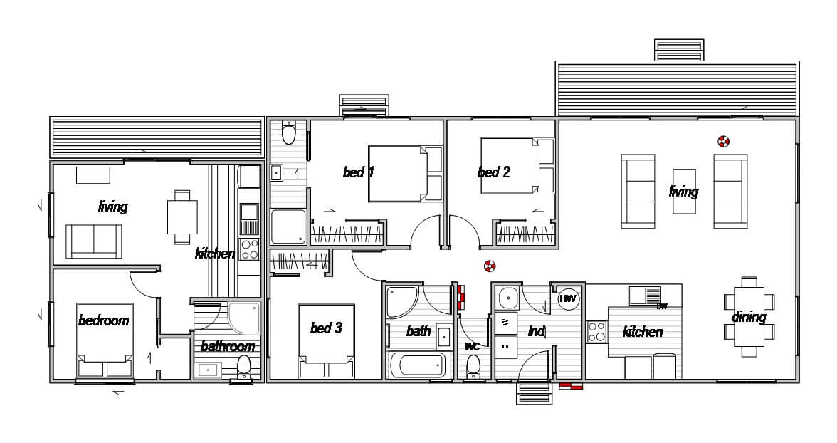House with self-contained flat attached