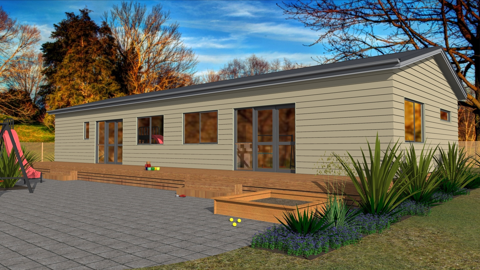 Prefabricated commercial preschool early childhood centre