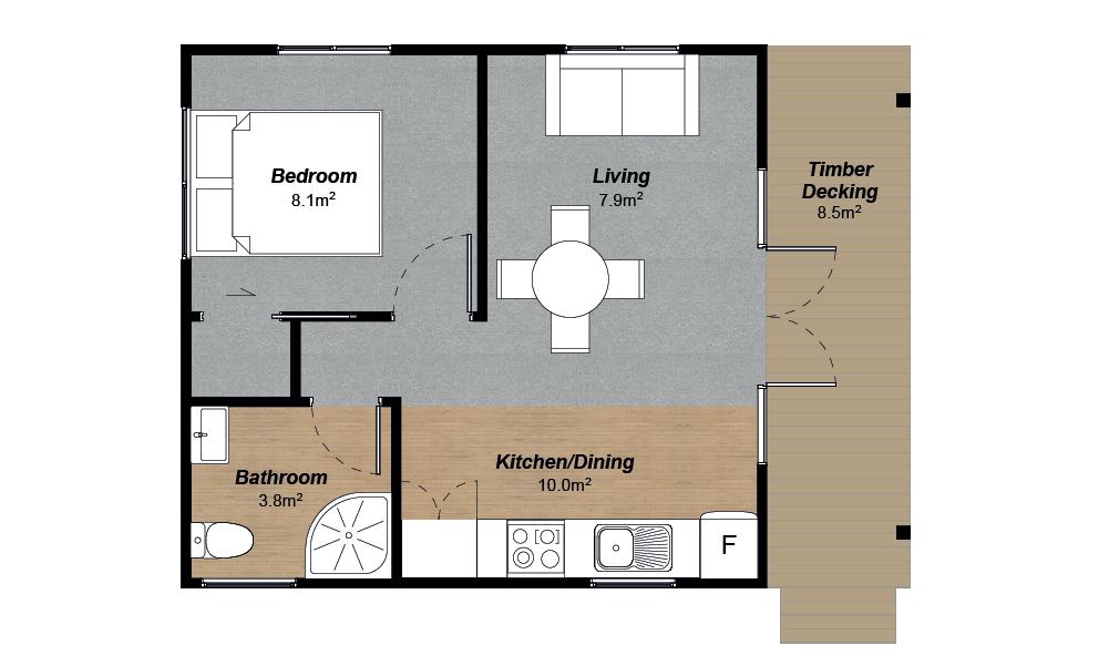 1 bedroom cottage kitset house