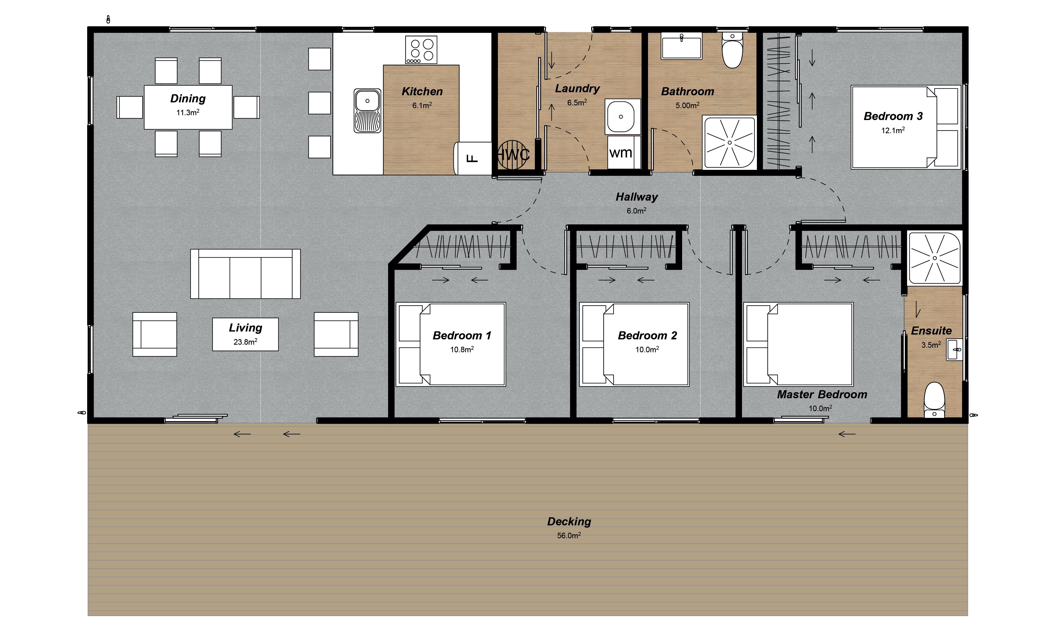 Mackenzie modern 4 bedroom house plan